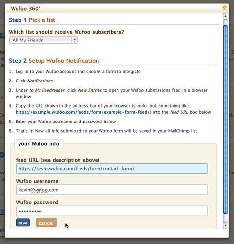 Wufoo / MailChimp Integration