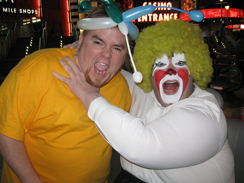 Michael and GAY clown in Vegas - a photo on Flickriver