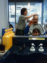 head shaving @ kawamura with tonchan