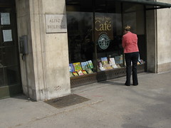 Lady Looking in the Window at the Books at Barnes & Noble on Walnut Street Across from Rittenhouse Square in Philadelphia (sameold2010) Tags: park street city winter philadelphia window coffee st shop lady shopping square book march store cafe pennsylvania centercity walnut rittenhouse books center bookstore bn pa starbucks penn philly rittenhousesquare barnes noble pennslyvania phila rittenhousesquarepark bboks