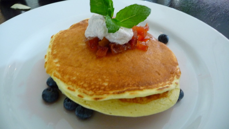 Ricotta pancakes at James