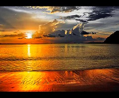 It's Golden (pearson_251) Tags: ocean travel sunset sea beach nature water beautiful asian thailand island golden amazing sand nikon colorful asia solitude burma shoreline tropical tidal andaman d80 vosplusbellesphotos