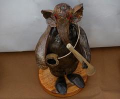 Baul Ganpatiji -  made of coconut and bamboo (H G M) Tags: santiniketan khowaibonerannyahaat hgmphotostream hgmukhopadhyay