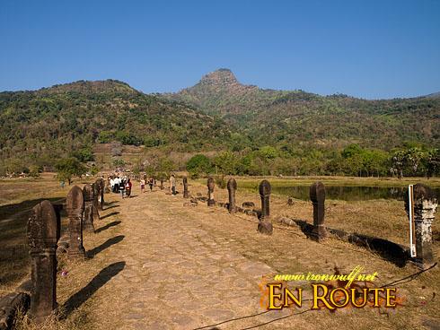 Wat Phu Champasak Festival Walkway and Mt Penis