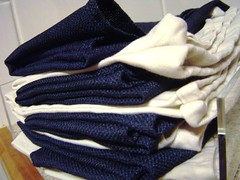 - Blue and White Napkins -