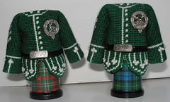 coat scott-gordon with tartan spools