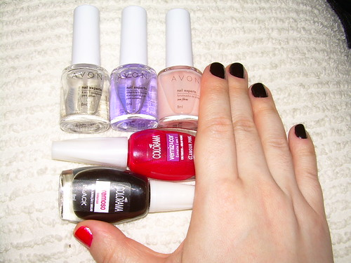 nail experts Avon + esmaltes Colorama