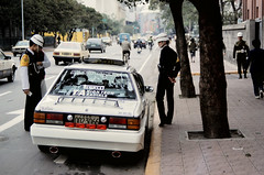 Hot Car Gets Stopped - Taipei 1986 (Gedawei ) Tags: film pentax k1000 taiwan pentaxk1000 taipei  1986  80