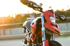 More Hypermotard (swanny338) Tags: sunset red motorcycle ducati hdr duc hypermotard