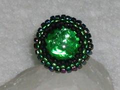 Anillo verde (perlasylentejuelas) Tags: anillos
