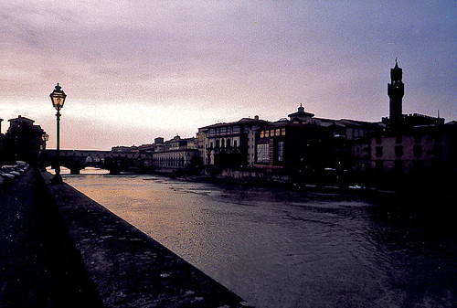 Arno River at dusk