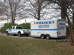 PBBS NYPD Police Truck with Trailer, Prospect Park, New York City (jag9889) Tags: county city nyc blue house ny newyork building car station architecture brooklyn truck automobile south prospectpark police nypd company kings transportation vehicle borough trailer suv department lawenforcement finest precinct taskforce firstresponders newyorkcitypolicedepartment brooklynsouth pbbs bstf