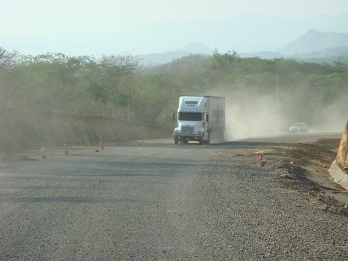 Dusty, Nicaraguan road...