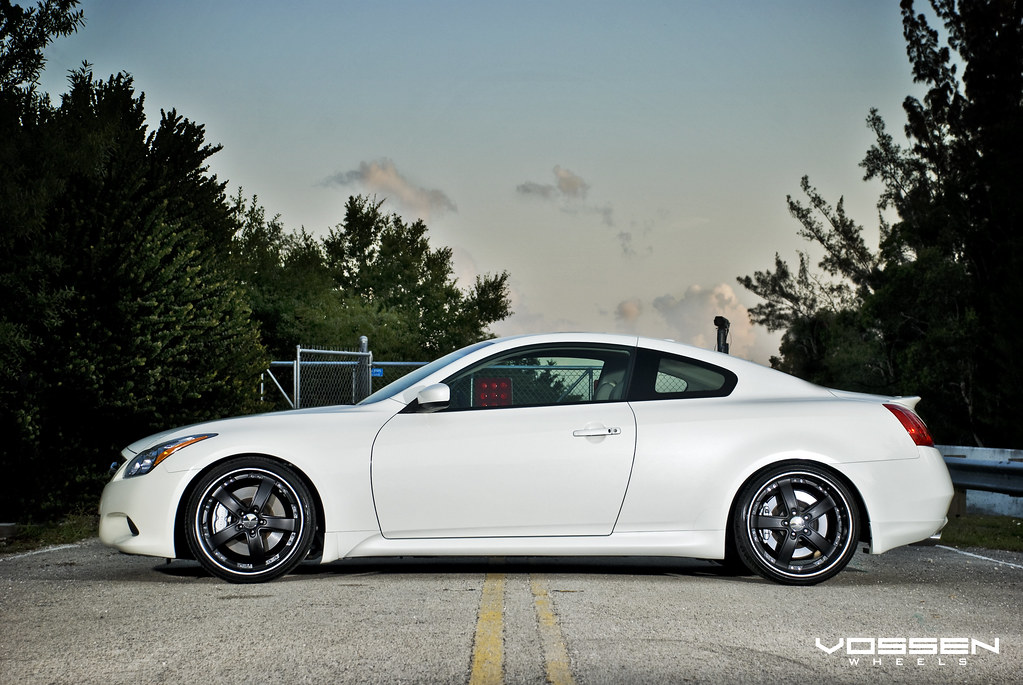Infiniti G37 With Vossen Custom Matte Vvs 084