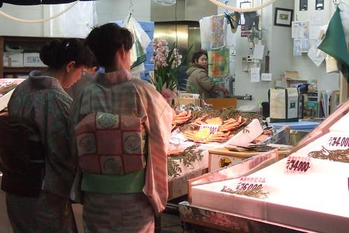 Shopping at Omicho Ichiba, Kanazawa