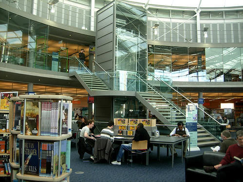 Inside Norwich library