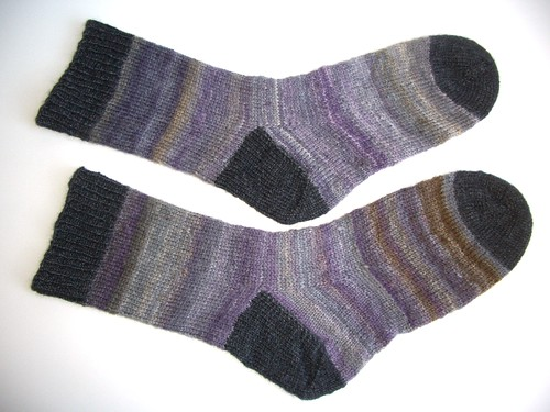 Black Purl socks-3