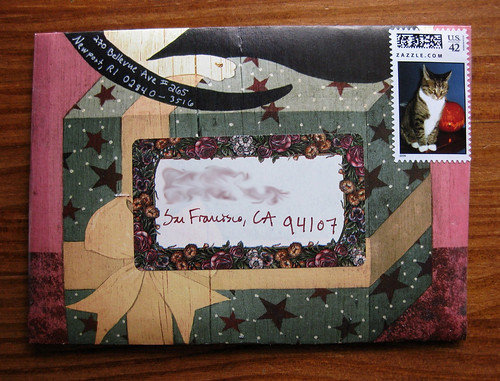 cat calendar envelope, complete with letter