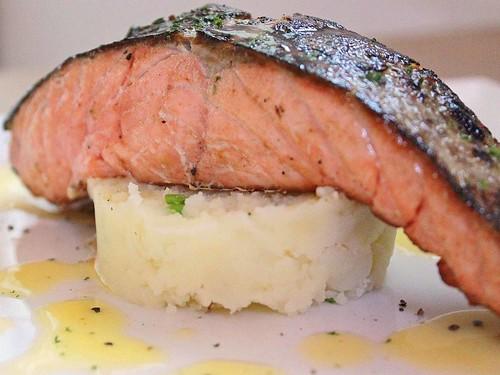 Crispy Skin Alantic Salmon