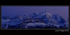 Mont-Blanc ! (pdel64@photography) Tags: pink winter sunset sky snow alps color annecy rose montagne landscape nikon europe skies pano hiver tripod d2x violet velvet ciel neige alpen nikkor paysage chamonix janvier 74 moutain couleur alpe coucherdesoleil panoramique hautesavoie 80mm nikonian nikoniste francelandscapes francelandscape philippedelobel