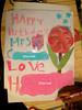 H made a birthday card for her teacher