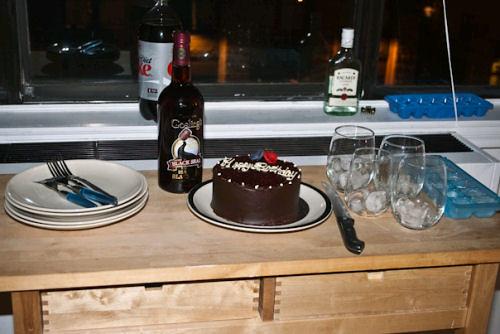 Birthday with rum