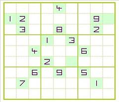 "17 Clue Sudoku ""R838-2E01"" (rico.alan) Tags: sudoku symmetric symmetrical least clue smallest given minimum fewest"