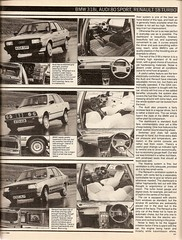 Sports Saloons Group Test Renault 18 Turbo, Audi 80 Sport & BMW 318i 1984 4 (Trigger's Retro Road Tests!) Tags: test sports car sport magazine group renault turbo 1984 bmw what 18 audi 80 318i saloons