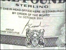 Scotland RBS Goodwin signature
