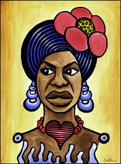 Nina Simone (Ben Heine) Tags: poverty africa portrait musician woman newyork black flower fashion soft track heart sweet character piano jazz voice northcarolina melody musical soul singer caricature humanrights racism biography gospel causes recording civilrights chanteuse ninasimone pauvret popularmusic sinnerman feelinggood mybabyjustcaresforme iputaspellonyou juilliardschool curtisinstitute benheine xnophobie dontletmebemisunderstood tobeyounggiftedandblack aintgotnoigotlife ilovesyouporgy eunicekathleenwaymon
