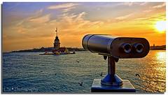 Wall-E and The Maiden Tower :))) (HDR) (Kuzeytac) Tags: light sea sky cloud sun bird nature turkey view postcard türkiye turkiye istanbul explore scape 1020 deniz hdr leyla bulut gökyüzü kuş manzara uskudar turchia güneş lsi lucisart kızkulesi martı turkei üsküdar ışık maidentower doğa tabiat sigma1020 şehir canoneos400d canoneosdigitalrebelxti colorphotoaward kuzeytac aqualityonlyclub