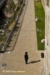 Solitary (Mwesigwa) Tags: shadow canon israel walk jerusalem journey jew jewish judaism solitary orthodox holyland vantage devout holycity 40d