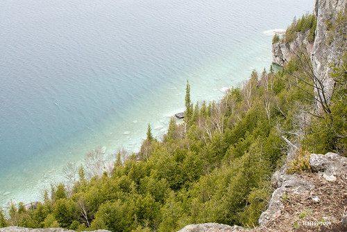 Over the edge - Lower look-out point on Lion's Head Point on Bruce Trail.