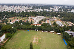 2007_11_03_Bangalore View 01 zzzFlickrMP (robertsladeuk) Tags: city urban sunlight india digital asian outside outdoors daylight town asia day view indian bangalore ground panoramic aerial cricket pitch daytime elevated karnataka sportscomplex wicket cricketground upload005 zzzflickrmp disc106 robertmanorphotographycom