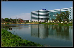 Lakeview Bldg (rohini_kamath) Tags: copyright india lake water reflections landscape bangalore karnataka lakeview rohini kamath bagmane techpark ifornature rohinikamath