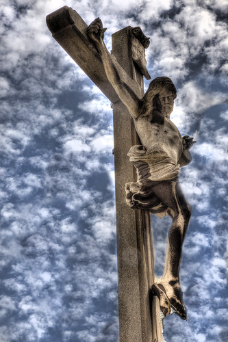 Crucifix with Clouds