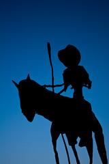 075/365 - Don Quixote (TheRogue) Tags: blue shadow horse man silhouette 365 rider donquixote 365days