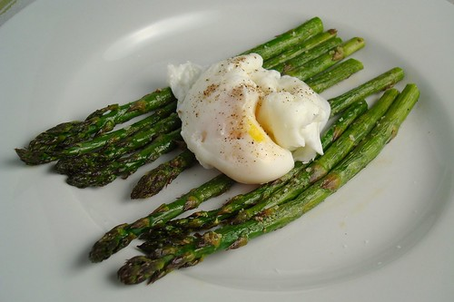 Roasted Asparagus with a Poached Egg