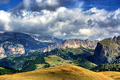 The Dolomites, Italy (sminky_pinky100 (In and Out)) Tags: travel blue italy mountains green tourism beautiful yellow clouds landscape high europe pretty view scenic alpine colourful dolomites personalbest 5photosaday abigfave omot platinumphoto citrit eyejewel theperfectphotographer travelpilgrims vosplusbellesphotos paololivornosfriends imagesforthelittleprince
