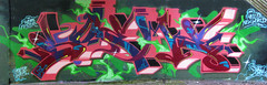 Sueme and the electric watermelon (Scotty Cash) Tags: vancouver graffiti 2009 nwk sueme