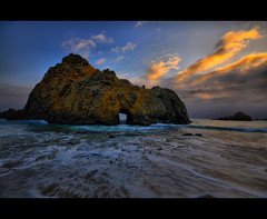 Big Sur , California (Exploring Earth) Tags: ocean california sunset seascape motion beach beautiful coast monterey big nikon bigsur sigma sur portal 1020mm keyhole pfeiffer phifer d90 bigsursunset