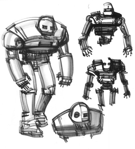 All Nighter- Sketches and Drawings of David Hahn: Robot