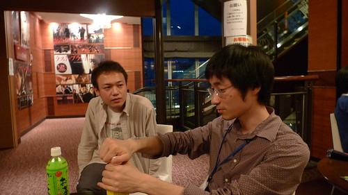 Yamamoto and Kawahara chatting