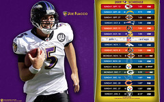 2009 Baltimore Ravens NFL Schedule Wallpaper