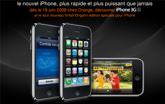 iphone 3gs france orange