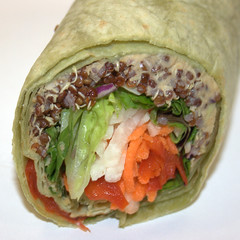 Jamba Juice - Greens and Grain Wrap, closeup