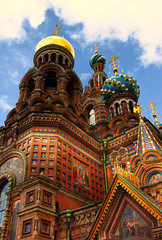 "Church of Christ the Savior ""on spilled blood"" (Maine Surfer) Tags: church architecture night clouds canon stpetersburg shot russia dome culturalheritage neva  spilledblood       35l  aplusphoto"