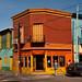 Colorful street corner in La Boca