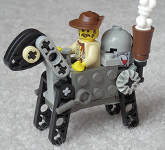 Steam Horse Mk. XXXVI (front) (aillery) Tags: horse war lego military great steam western machines frontier steampunk