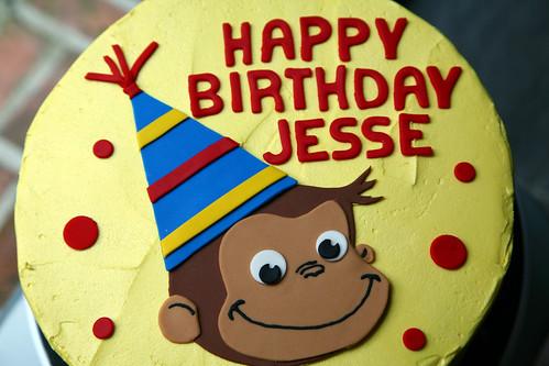 Jesse's Curious George cake